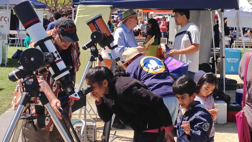 Earth Day Festival, Cupertino, SJAA Solar Viewing, 2014/04/05