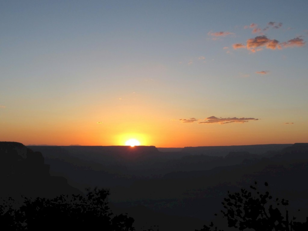 Sunset over Grand Canyon before the Star Party